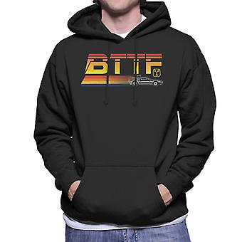 Back to the Future Delorean Zooming Men's Hooded Sweatshirt