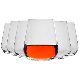 Bormioli Rocco Inalto Uno Tumbler Glasses Set - 410ml - Pack of 12