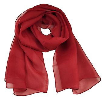 Bånd Planet Plain Bourgogne Chiffon Tørklæde