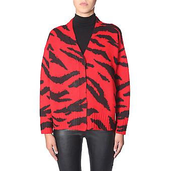 Filosofia Por Lorenzo Serafini 091157031112 Mulheres's Preto/vermelho Wool Cardigan