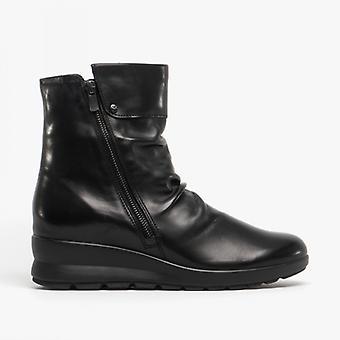 Mephisto Phila Ladies Leather Ankle Boots Black