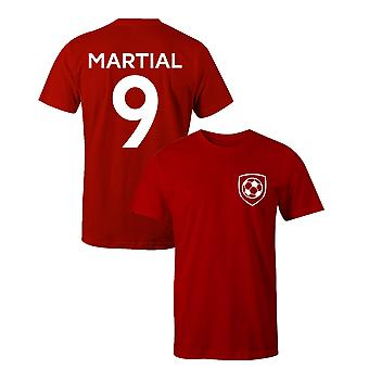Anthony Martial 9 Man Utd Style Player Football T-Shirt