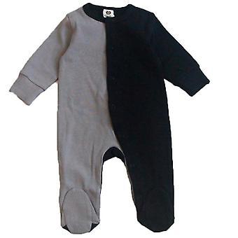 Baby Baumwolle Strampler Langarm Kleidung, Neugeborene Baby Footed Overalls Overall