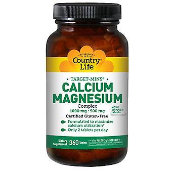 Country Life Calcium-Magnesium Complex, 360 Tabs