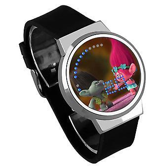 Impermeable Luminoso LED Digital Touch Reloj - Trolls #36