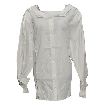 Women with Control Women's Plus Top Wrinkle Resistant White A351895