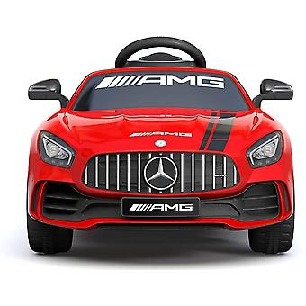 licensed Mercedes Benz Gtr amg 6V 7A electric ride on car red with remote