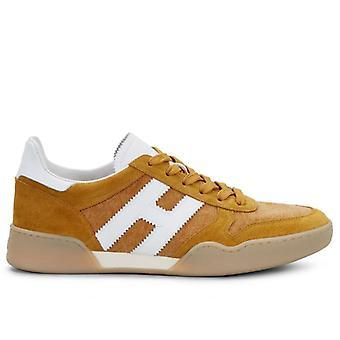 Heren Sneakers Hogan H357 Suède Mosterd en Stof