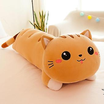 Long Cat Pillow Peluche Jouet Soft Stuffed, Animal Kids, Home Decor Girl