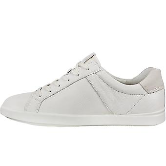 Ecco Womens Leisure Leather Casual Trainers Sneakers Shoes - White