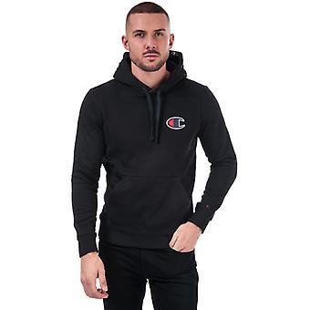 Men's Champion Suede C Logo Hoody en Noir