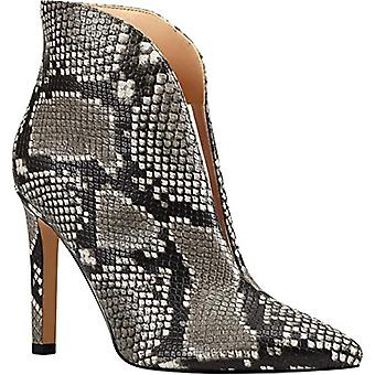 NINE WEST Womens Danie 3 Snake Print Fashion Dress Boots
