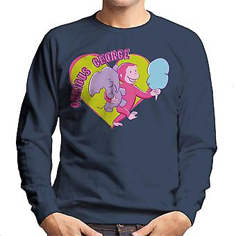 Curieux George Carnival Heart Men's Sweatshirt