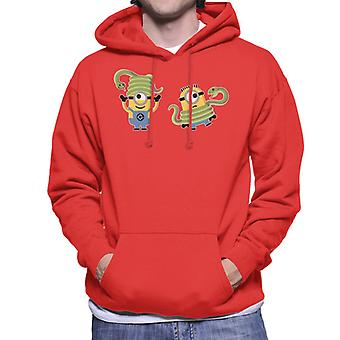 Despicable Me Minions With Snakes Men's Hooded Sweatshirt