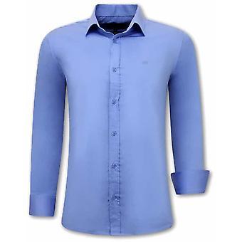 Shirts Long Sleeve - Slim Fit - Blue