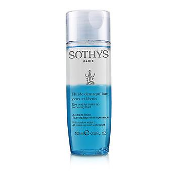 Sothys Eye And Lip Make Up Removing Fluid With Mallow Extract - For All Make Up Even Waterproof 100ml/3.38oz