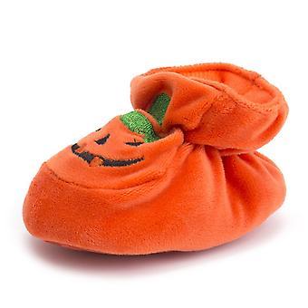 Halloween Kurpitsa Pretty Baby Casual Vauvansänky Kengät Puuvilla Painatus Elastinen Vyötärö Pehmeä