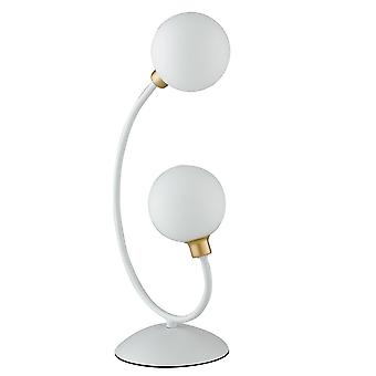 Fan Europe Aida - Twin Globe Tischleuchte, weiß, Gold, G9
