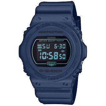 Casio Dw-5700bbm-2er Horloge - G-shock Dw Multifunctions Bracelet R sine Blue Bo tier R sine