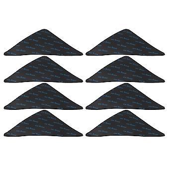 8 Pieces Rug Grippers Black Corner Carpet Tape Grippers for Tile Floors