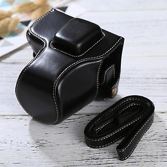Olympus EPL7 / EPL8 (Siyah) kayışlı Tam Vücut Kamera PU Deri Kılıf Çantası