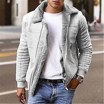 Men's Faux Leather Jackets And Coats, Fleece Lined Winter Warm Parkas, Overcoat