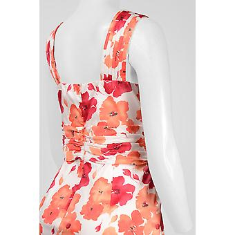 Adrianna Papell Dag geplooide Halter Neck Ruched Taille Rits terug