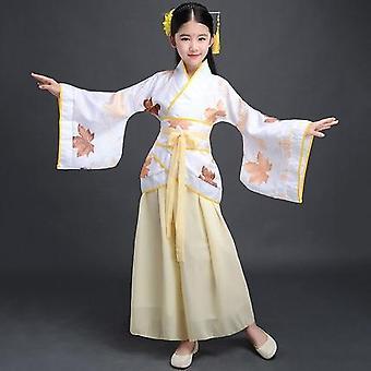 الأطفال كيمونو التقليدية خمر العرقية مروحة الطلاب جوقة الرقص زي