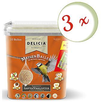 Sparset : 3 x FRUNOL DELICIA® Delicia® MeisenBallen, 30 pièces
