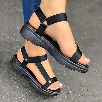 الحجم الكبير 43، حذاء عارضة امرأة والصنادل مريحة أنثى ضوء sandalias