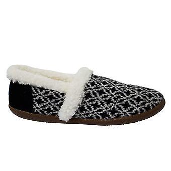 Toms Birch Wollen House Slipper Zwart Wit Slip On Womens Slippers 10008880