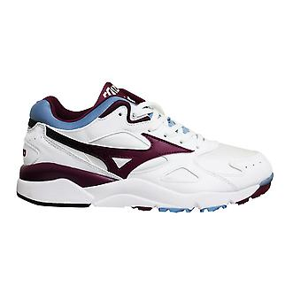Mizuno Sport Style Sky Medal White Blue Lace Up Mens Running Trainers D1GA192467