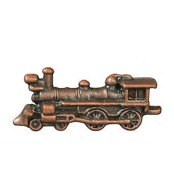 Dolls House Bronze Boys Toy Train Miniature Locomotive Nursery Shop Accessoire