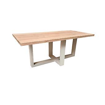 Wood4you - Esstisch Miami Oak 220Lx78Hx96D cm weiß