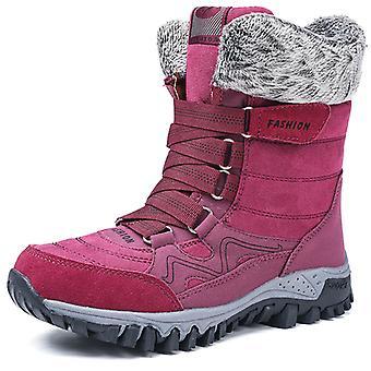 Bottes de neige haute cheville femmes 9961 Red2