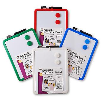 """Dry Erase Boards - Magnetic - 8.5"""" X 11"""" White Surface - Cadres assortis, 4/Box"""