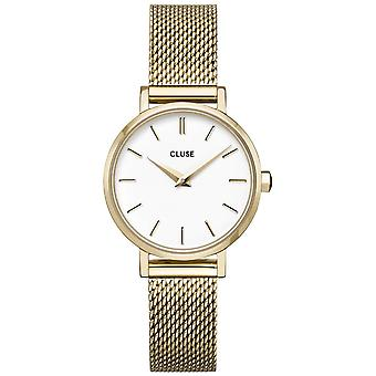 Cluse Cw0101211001 Boho Chic Petite White And Gold Mesh Ladies Watch