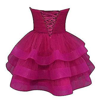 Short Sweetheart Crystals Sash Party Robes