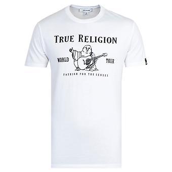 True Religion Rubber Buddha Print T-Shirt - White