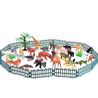 Mini Animal World Zoo Model, Cartoon Simulation Toy