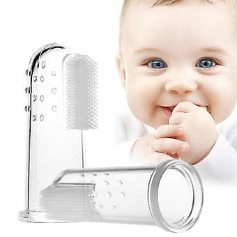 Baby Silicone Finger Toothbrush With Box