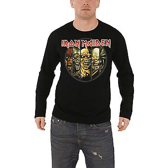 Iron Maiden T Shirt para hombre Eddie Evolution banda insignia nuevo oficial manga larga