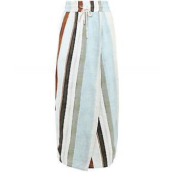 Crea Concept Stripe Linen Blend Skirt