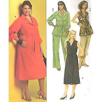 Butterick نمط الخياطة 5194 يفتقد أعلى فستان قصير السراويل حجم السراويل 18W-24W