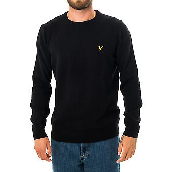 Pull homme lyle & scott crewnwck lambswool blend jumper kn921vf.w155 sweater