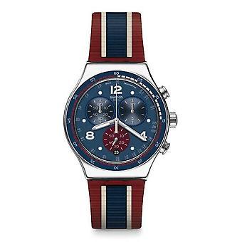 Swatch COLLEGE tid gummi Chonograph Mens Watch YVS449