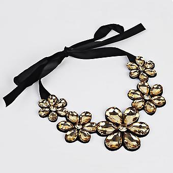 Hesiod  Clear Crystal False Collar Chokers Necklace