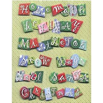 K & Co - Christmas Word Dimensional Grand Adhesions