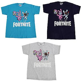 Fortnite barnens/ungar Bunny problem kortärmad T-Shirt