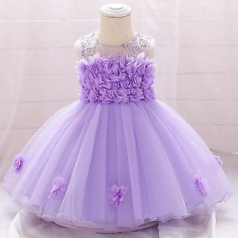 Детские Младенец Цветок Принцесса платье, Туту Свадебная вечеринка платье